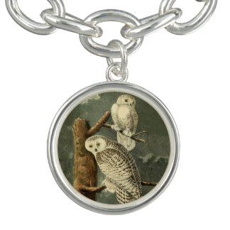 Bracelet Illustration de cru de John James Audubon de hibou