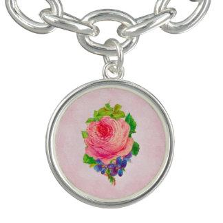 Bracelet Le beau cru rose s'est levé le brin assez violet