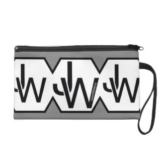 Bracelet multiple blanc de logo de polygone de sacs à main avec dragonne