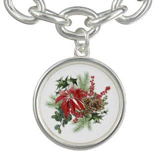 Bracelet poinsettia vintage moderne de vacances florale