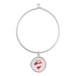 Bracelet Rigide Coeur autrichien