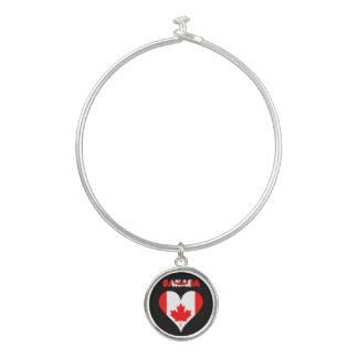 Bracelet Rigide Coeur canadien