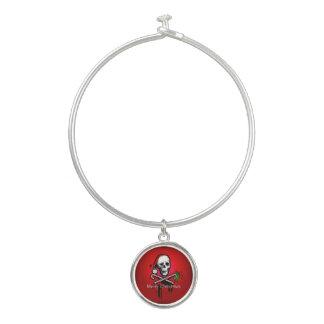 Bracelet Rigide Crâne de Noël