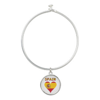 Bracelet Rigide Drapeau espagnol