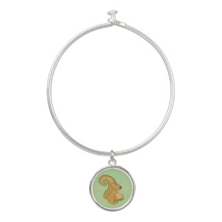 Bracelet Rigide Oh écrous ! Un écureuil mangeant un gland