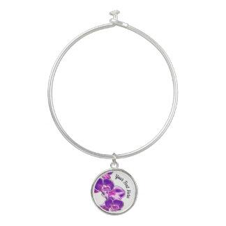 Bracelet Rigide Orchidées personnalisées