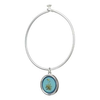 Bracelet Rigide Pissenlit sur le bleu