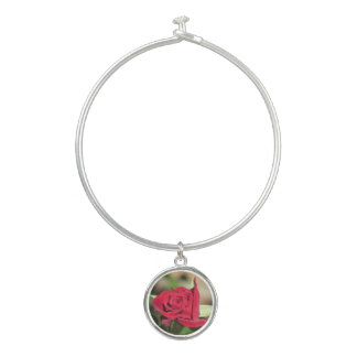 Bracelet Rigide Rose rouge