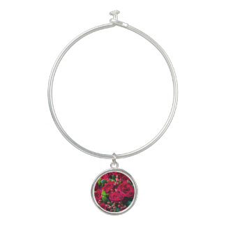 Bracelet Rigide Roses rouges