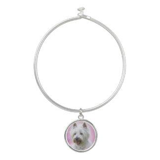 Bracelet Rigide Terrier blanc de montagne occidentale adorable