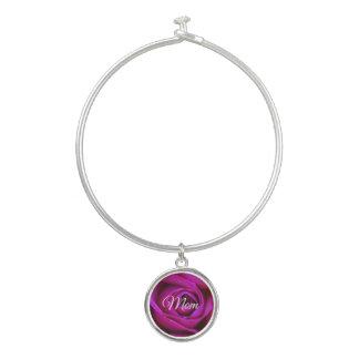 Bracelet rose de bracelet de maman avec le charme
