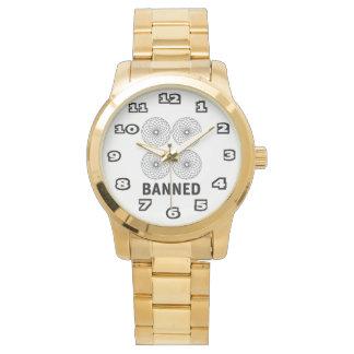 Bracelet surdimensionné interdit d'or montres bracelet