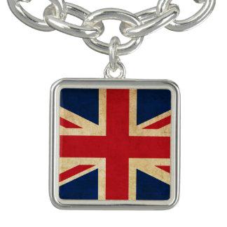 Bracelet Vieux drapeau grunge vintage Union Jack du