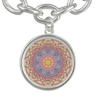 Bracelet vintage de charme de motif de pastels