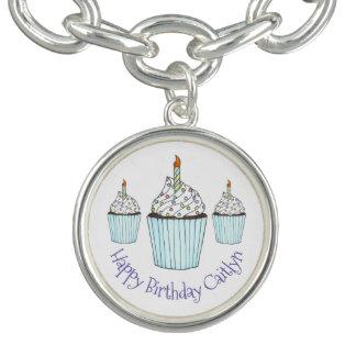 Bracelets Avec Breloques Cadeau personnalisé par petit gâteau de joyeux