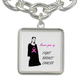 Bracelets Avec Breloques Cancer du sein de combat