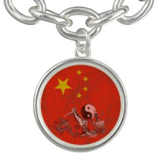 Bracelets Avec Breloques Drapeau et symboles de la Chine ID158