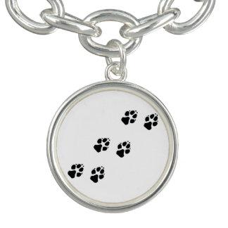 Bracelets Avec Breloques Empreintes de pattes d'un chien