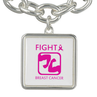 Bracelets Avec Breloques Fléchissement des bras pour combattre le cancer du