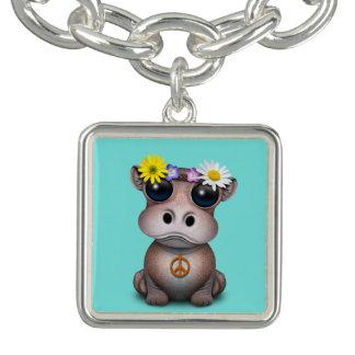 Bracelets Avec Breloques Hippie mignonne d'hippopotame de bébé