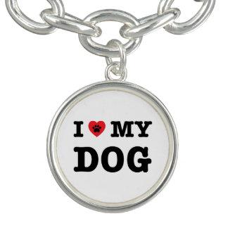 Bracelets Avec Breloques I coeur mon chien