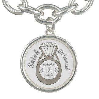 Bracelets Avec Breloques Noce personnalisée de demoiselle d'honneur de