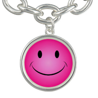 Bracelets Avec Breloques Smiley rose