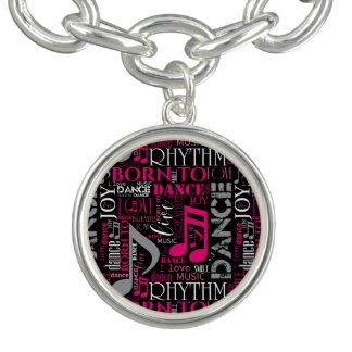 Bracelets Avec Breloques Soutenu pour danser ID277 rose