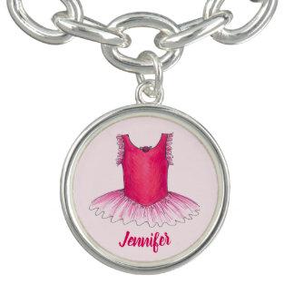 Bracelets Cadeau rose personnalisé de danse de ballet de