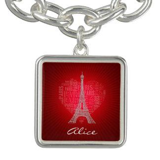 Bracelets Charme vintage rouge de Paris   d'amour