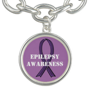 Bracelets Épilepsie pourpre de ruban