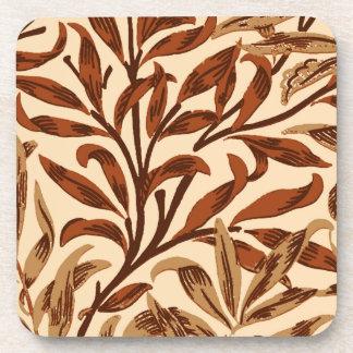 Branche, Brown et beige de saule de William Morris Dessous-de-verre