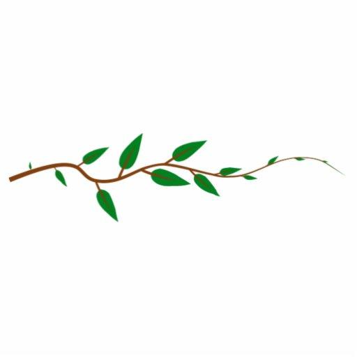 branche d 39 arbre avec le feuille photo sculpture zazzle. Black Bedroom Furniture Sets. Home Design Ideas