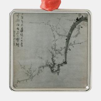 Branche de prune - YI Yuwon Ornement Carré Argenté