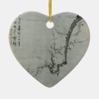Branche de prune - YI Yuwon Ornement Cœur En Céramique