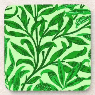 Branche de saule de William Morris, vert vert Dessous-de-verre