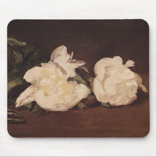 Branche des pivoines et des sécateurs blancs, 1864 tapis de souris