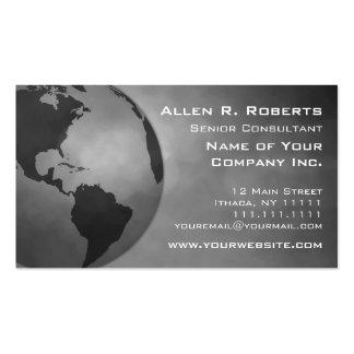 Branche globale des Amériques de commerce d'entrep Carte De Visite
