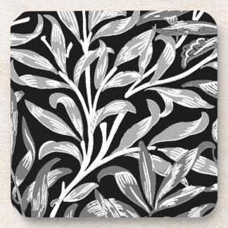 Branche, noir, blanc et gris de saule de William Dessous-de-verre