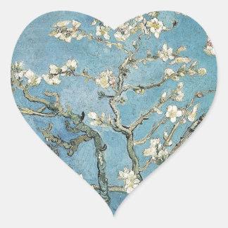 Branches d'amande de Vincent van Gogh | en fleur, Sticker Cœur