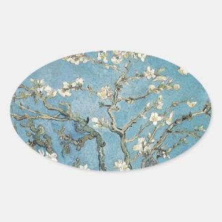 Branches d'amande de Vincent van Gogh | en fleur, Sticker Ovale