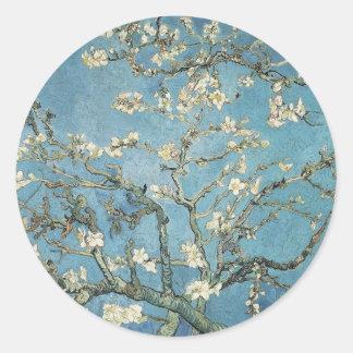 Branches d'amande de Vincent van Gogh | en fleur, Sticker Rond