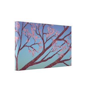 Branches de fleurs de cerisier - toile d'art de na toile tendue sur châssis