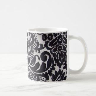 branco du preto e d'abtrato de padrão mug blanc