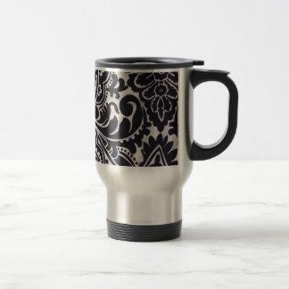 branco du preto e d'abtrato de padrão mug de voyage en acier inoxydable