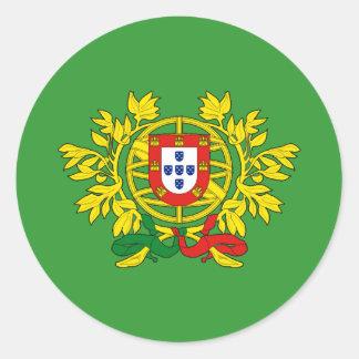 Brasão de armas de Portugal Autocollant Rond