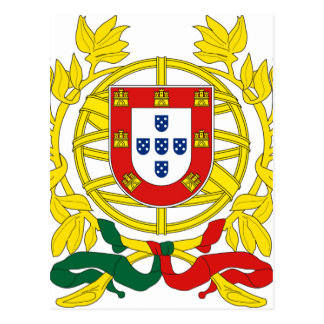 Brasão de Armas (manteau des bras) De Portugal Cartes Postales