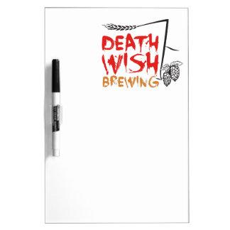 Brassage de souhait de mort tableaux effaçables blancs