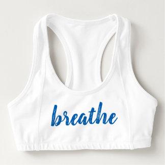 Brassière Les femmes respirent le soutien-gorge bleu de