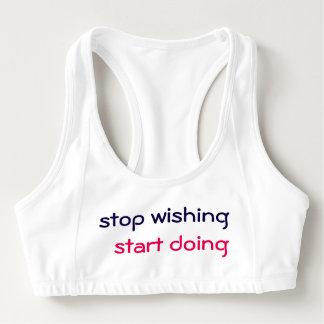 "Brassière Sports bra «Stop wishing start doing """